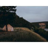 Одномачтовый туристический шатёр